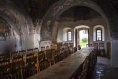 Tavolo da pranzo medievale immagine stock