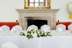 Tavolo di nozze Fotografia Stock