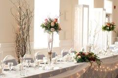 Tavolo di ricezione Fotografia Stock