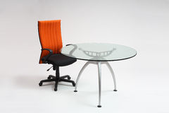 Tavolo di riunione & presidenza Immagini Stock
