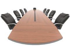 Tavolo di riunione dal punto di vista della sporgenza Fotografie Stock Libere da Diritti
