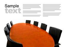 Tavolo di riunione isolato fotografie stock libere da diritti