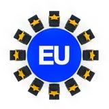 Tavolo di riunione rotondo dell'Unione Europea Immagini Stock