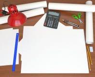 Tavolo. Vista dalla parte superiore royalty illustrazione gratis