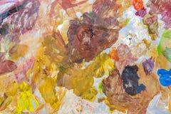 Tavolozza astratta di variopinto, colore della miscela, backgroun della pittura acrilica Immagine Stock