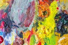 Tavolozza astratta di variopinto, colore della miscela, backgroun della pittura acrilica Fotografie Stock Libere da Diritti