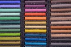 Tavolozza dei pastelli dell'olio fotografie stock libere da diritti