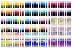 Tavolozza del campione di riferimento di colore fotografie stock libere da diritti