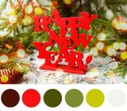 Tavolozza del nuovo anno immagini stock