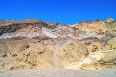 Tavolozza del ` s dell'artista, Death Valley fotografia stock