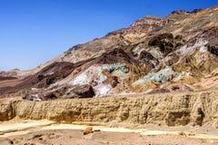 Tavolozza del ` s dell'artista, Death Valley fotografie stock