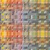 Tavolozza dell'arcobaleno dell'acquerello con i rettangoli colorati illustrazione di stock