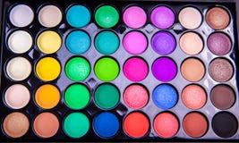 Tavolozza delle ombre colourful Fotografie Stock