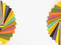 Tavolozza di carta multicolore del campione Carta del catalogo per stampare fotografie stock libere da diritti