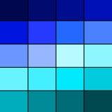 Tavolozza di colore blu Fotografie Stock Libere da Diritti