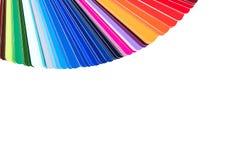 Tavolozza di colore, catalogo di colore, guida dei campioni della pittura isolati sopra immagine stock