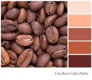 Tavolozza del caffè dell'arrosto della città Fotografia Stock Libera da Diritti