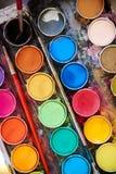 Tavolozza di colore dell'acqua Fotografia Stock Libera da Diritti