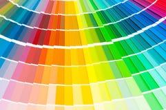 Tavolozza di colore, guida di colore, campioni della pittura, catalogo di colore immagini stock libere da diritti