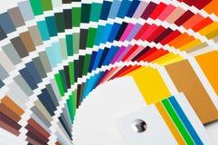 Tavolozza di colore, guida di colore, campioni della pittura, catalogo di colore immagine stock