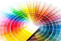 Tavolozza di colore, guida di colore, campioni della pittura, catalogo di colore immagini stock