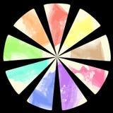 tavolozza di colore di Nove-colore Fotografia Stock Libera da Diritti