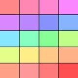Tavolozza di colore pastello Immagine Stock
