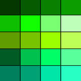 Tavolozza di colore verde Fotografia Stock Libera da Diritti