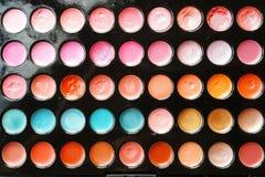 tavolozza di colori del rossetto immagini stock libere da diritti
