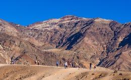Tavolozza stupefacente degli artisti al parco nazionale di Death Valley in California - DEATH VALLEY - CALIFORNIA - 23 ottobre 20 Fotografia Stock