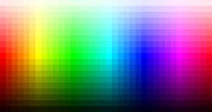 Tavolozza, tonalità e luminosità del mosaico dello spettro di colori Vettore illustrazione di stock