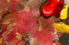 Tavolozza variopinta dei pittori Fotografie Stock Libere da Diritti