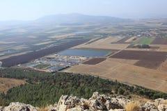 Tavor & Jezreel Valley from Mount Precipice Royalty Free Stock Photo