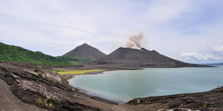 Tavurvur volcano. Rabaul, New Britain Island, Papua New Guinea Royalty Free Stock Photos