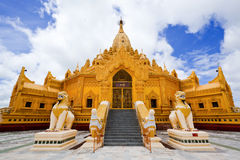 taw yangon för swe för buddha myanmar myatpagoda Arkivbild