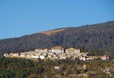 Tawang修道院: 平静的雄伟 图库摄影