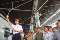 Tawang Jaya drev som lanserar det längst till Jakarta Royaltyfria Bilder