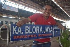 Tawang Jaya drev som lanserar det längst till Jakarta Arkivbild