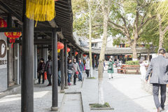 Tawang street stock image