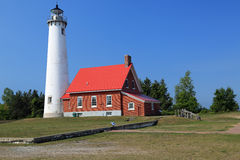 Tawas lighthouse in Michigan royalty free stock photo