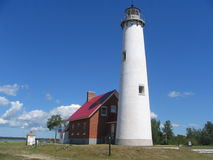 Tawas Point Lighthouse. Located in East Tawas Michigan Royalty Free Stock Image