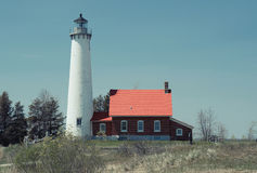 Tawas Point Lighthouse, built in 1876 Stock Photos