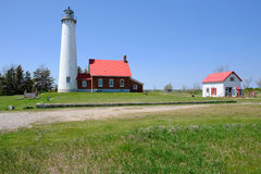 Tawas Point Lighthouse, built in 1876 Royalty Free Stock Photo