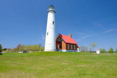 Tawas Point Lighthouse, built in 1876 Royalty Free Stock Image