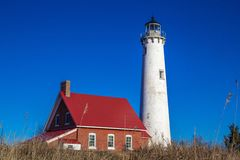 The Tawas Point Lighthouse Royalty Free Stock Photography