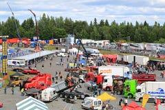 Tawastia ciężarówki weekend 2015, Ogólny widok obraz stock