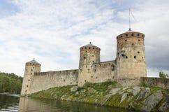Tawer τρία του κάστρου olavinlinna Στοκ Εικόνα