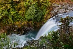 Tawhai Falls also known as Lord of the Rings Gollum Pools, in Tongariro National Park Royalty Free Stock Photo