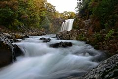 Tawhai Falls also known as Lord of the Rings Gollum Pools, in Tongariro National Park. New Zealand Stock Photo