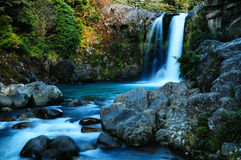 Tawhai Falls. New Zealand waterfall. Tongariro National Park. Whakapapa Village area in the Central North Island region stock photo